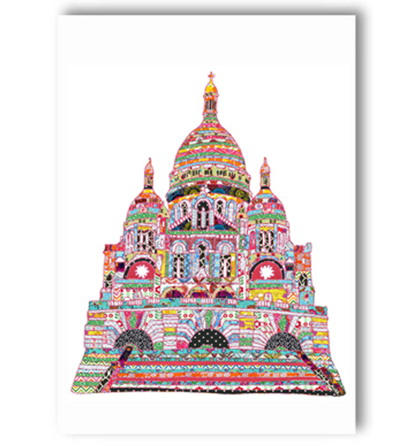 Sacre Coeur Paris Card