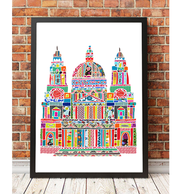 Colourful St Pauls Cathedral Print