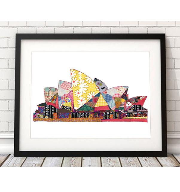 Patchwork Sydney Opera House Print