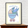 Baby Blue Liver Bird Print