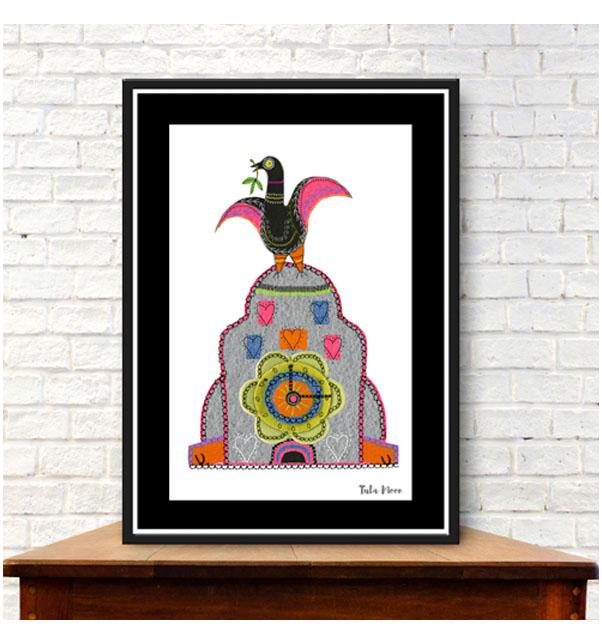 Liver Bird on Liver Building Print